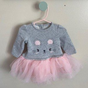 Baby Girls Mouse Tulle Dress 6-12M